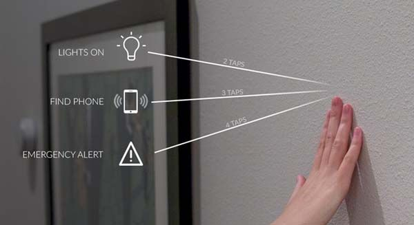 Knocki Turns a Surface into Remote Control for Smart Home
