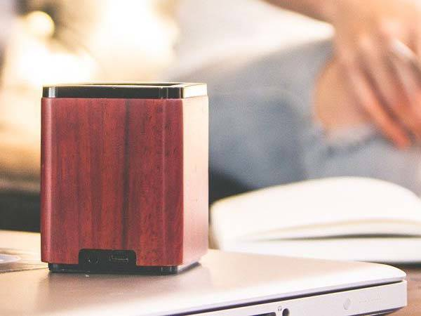 LSTN Satellite Wooden Portable Bluetooth Speaker