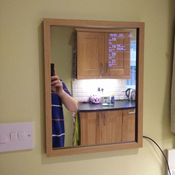 Make your own motion sensing smart mirror by yourself