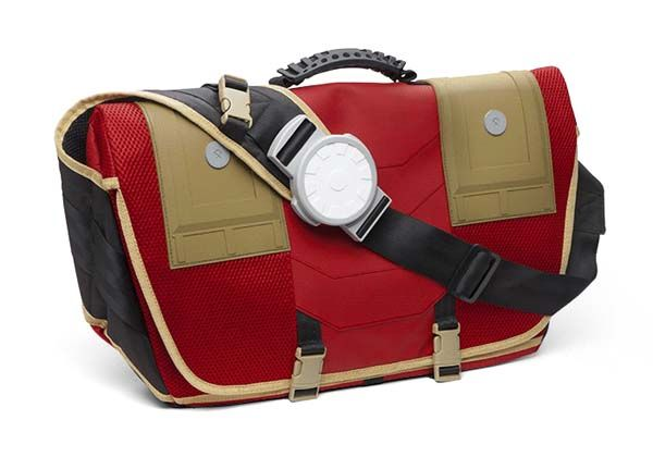 Iron Man Inspired Messenger Backpack with Light-up Arc Reactor