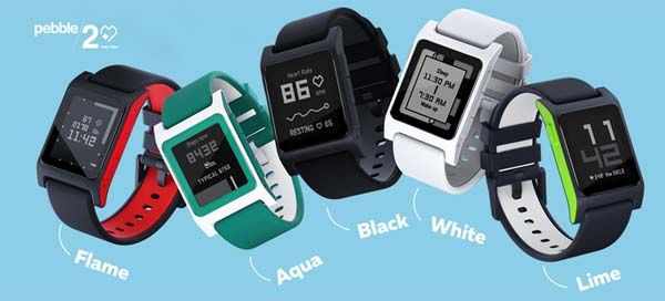 Pebble 2 Heart Rate Enabled Smartwatch with Fitness Tracker