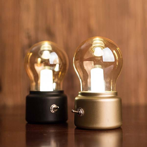 retro bulb shaped usb led lamp gadgetsin. Black Bedroom Furniture Sets. Home Design Ideas