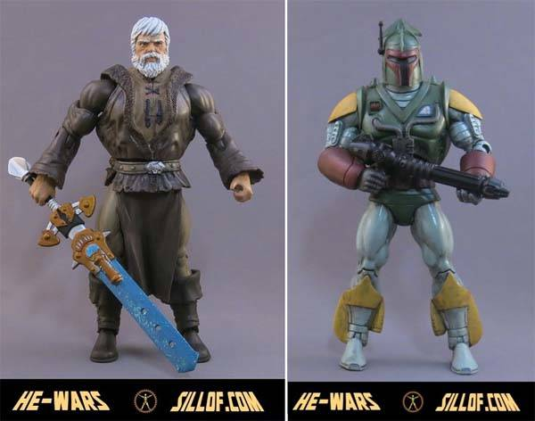 He-Wars Action Figures With the Style of Star Wars and He-Man
