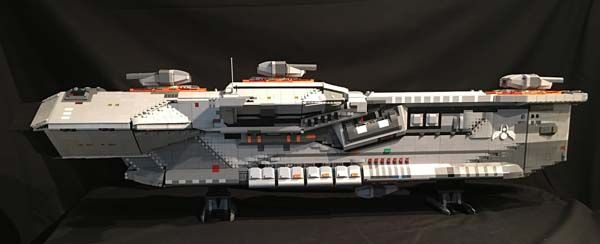 LEGO Hiigaran Destroyer Starship