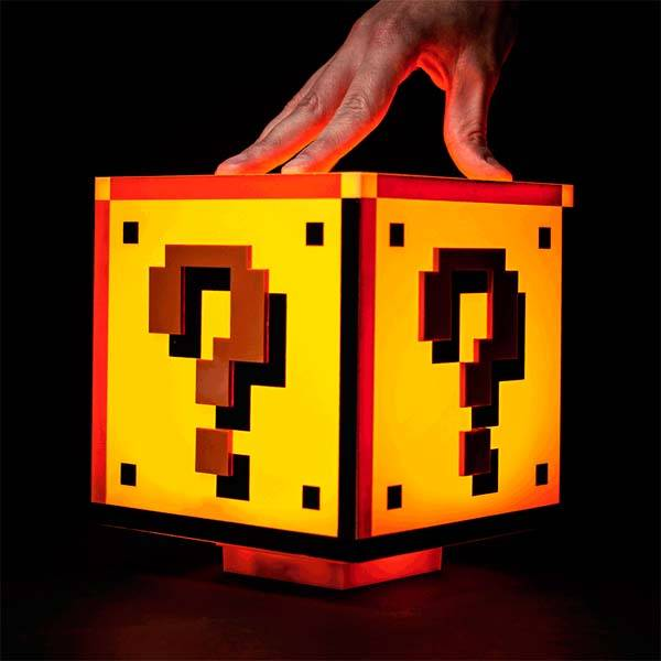The Question Block LED Lamp Adds Some Style from Mushroom Kingdom