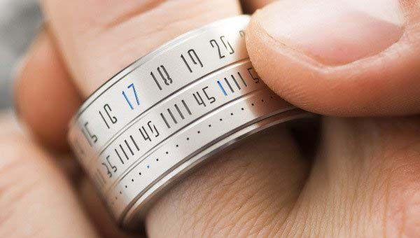 The Staineless Steel Ring Clock Brings Time and Fashion on Your Finger