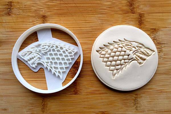 3D Printed Game of Thrones Cookie Cutters