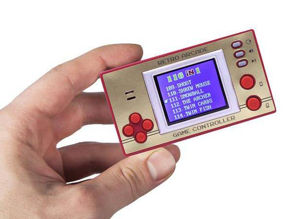 8-Bit Portable Game Console with Over 100 Classic Games