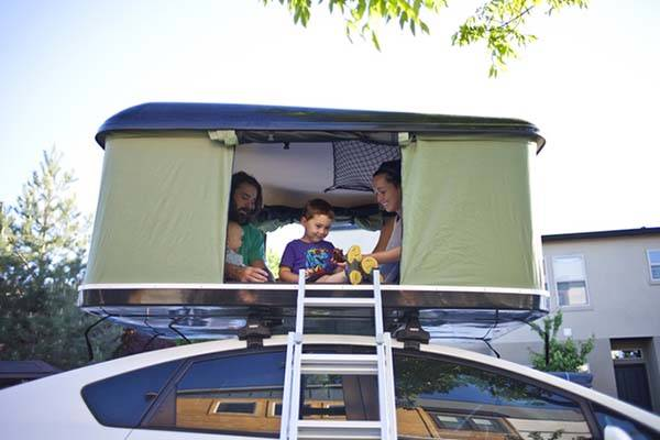 Tent On Top Of Vehicle : The blackfin camper box hardshell tent set up on top of