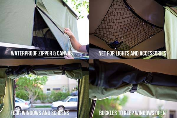 BlackFin Camper Box Hardshell Tent on the Top of Your Car