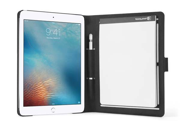 Booqpad 9.7-Inch iPad Pro Case with Apple Pencil Holder and Notepad