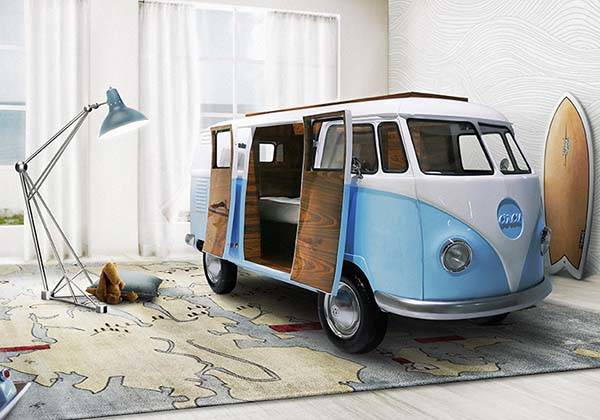 Bun Van VW Camper Van Shaped Bed