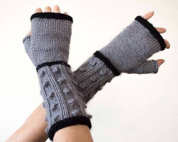 Doctor Who Dalek Knit Fingerless Mitts