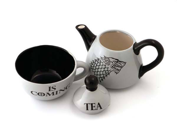 Game of Thrones Teapot and Teacup Set Inspired by House of Stark