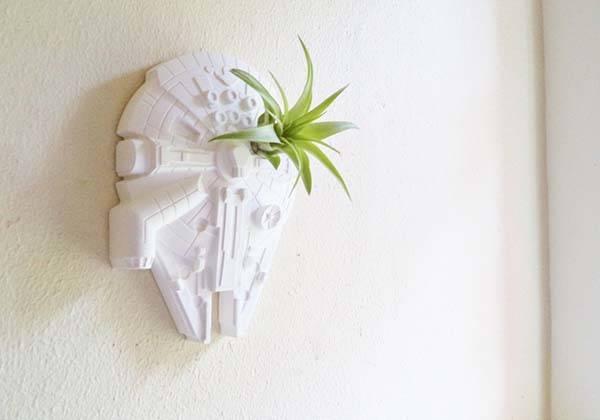 Handmade Star Wars Millennium Falcon Planter