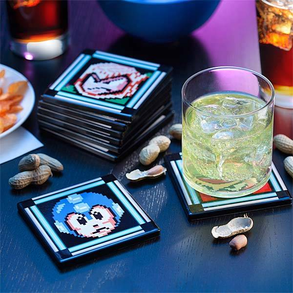 Mega Man Ii Pixelated Drink Coaster Set Gadgetsin