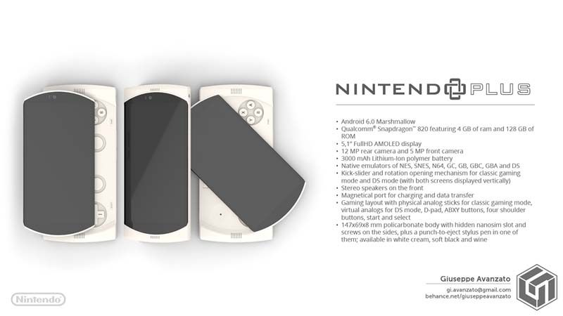 Nintendo Plus Features a Combination of Smartphone and Handheld Game Console