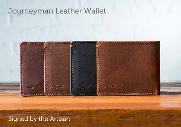 Pad and Quill Journeyman Bi-fold Leather Wallet
