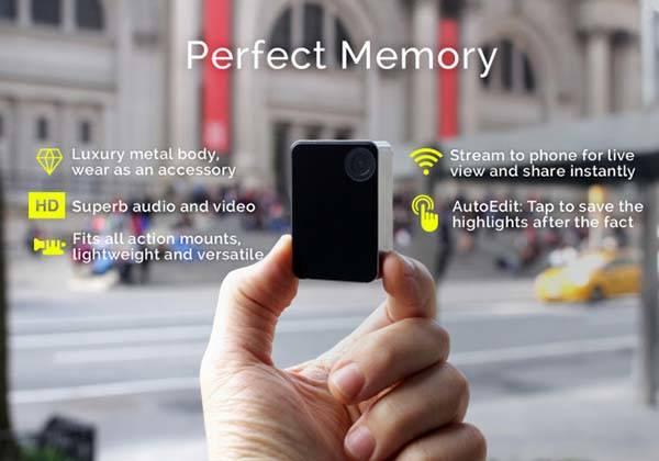 Perfect Memory WiFi-Enabled Wearable Mini Camera