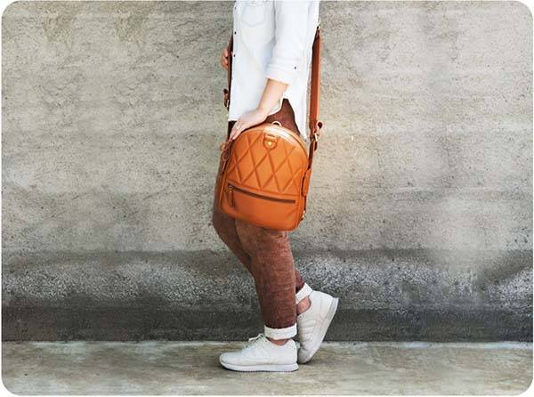 The 2 Style Leather Backpack Boasts Two Different Faces