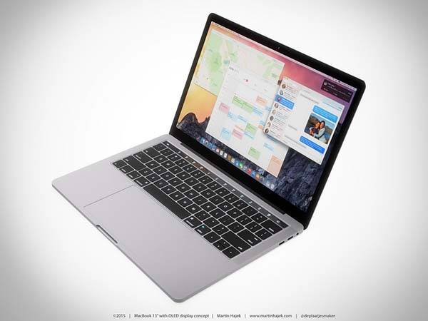 The Concept MacBook with OLED Display Touch Bar