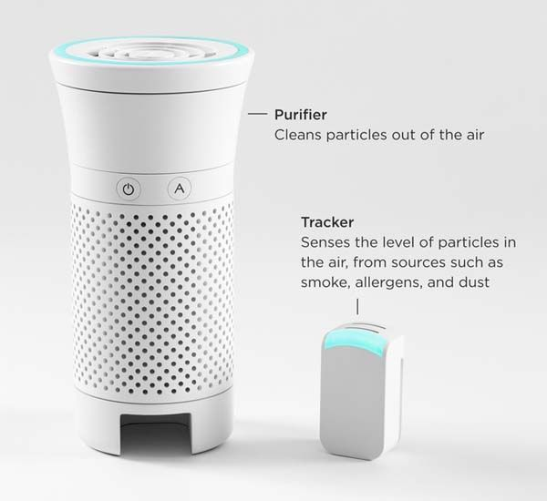 Wynd Portable Smart Air Purifier With Detachable Air
