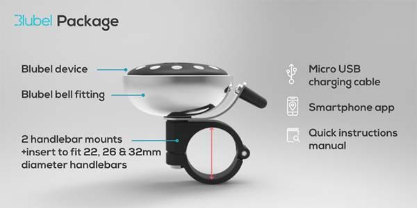 Blubel Bluetooth Bike Bell with Built-in Navigation Device