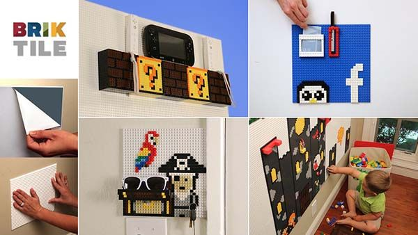 Brik Wall Tiles Support LEGO, KRE-O and Mega Bloks