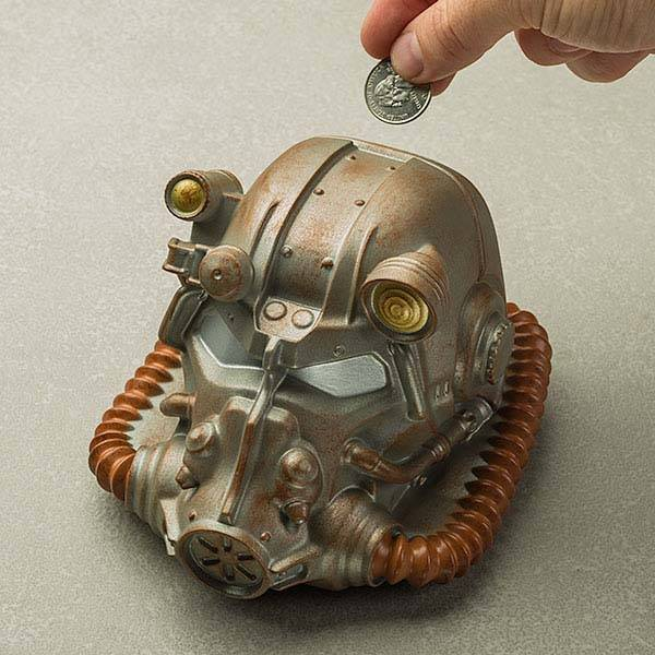 Fallout Power Armor Helmet Coin Bank