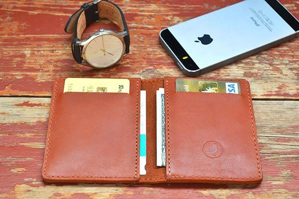 Handmade Customizable Bifold Leather Wallet