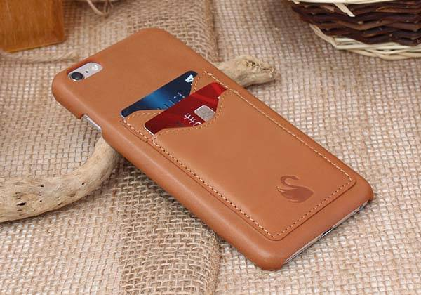 Handmade iPhone 6s/6s Plus Leather Case with Two Card Slots