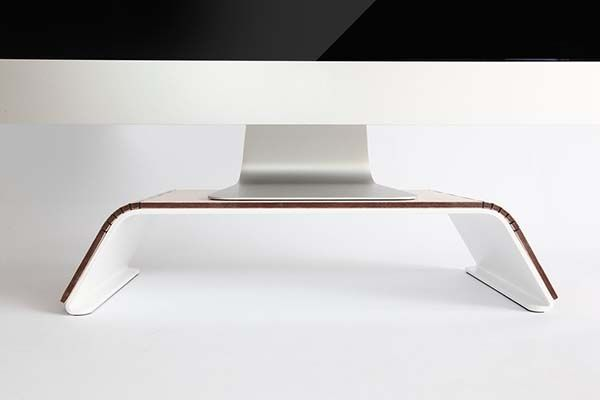 Handmade Minimal Steel Monitor Stand with Detachable Wood Sheet