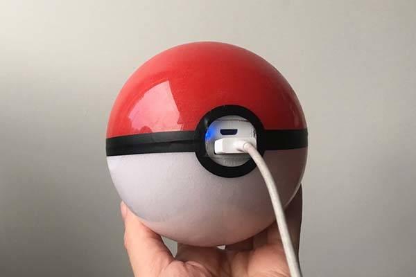 Handmade Pokeball Power Bank