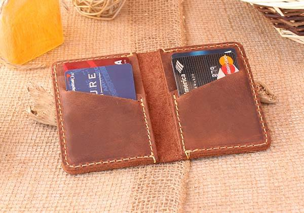 Handmade Slim Leather Wallet for Women