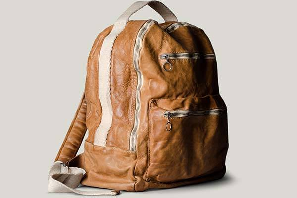 hard graft misfit leather backpack