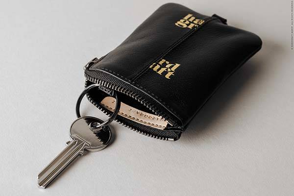 Hard Graft Zip Key Leather Keypunch