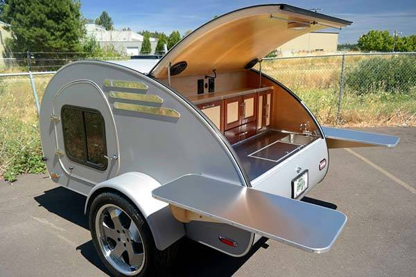 Oregon Trail'R Frontear Teardrop Trailer