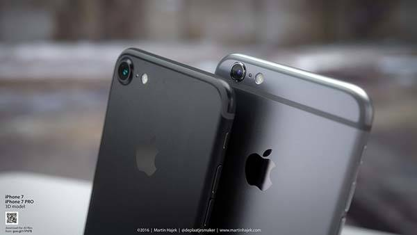 Space Black iPhone 7 Renders
