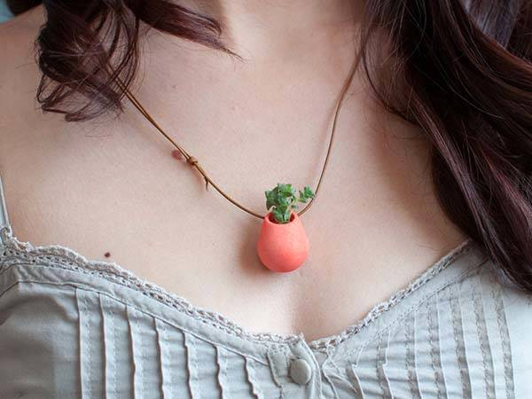 3D Printed Wearable Planter Pendants
