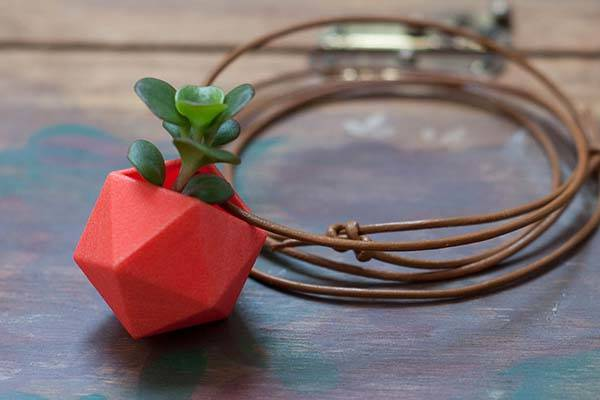 3D Printed Wearable Planter Pendants