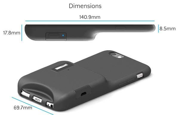 Capture iPhone 6s Case with Xenon Flash, Shutter Button and Microphone