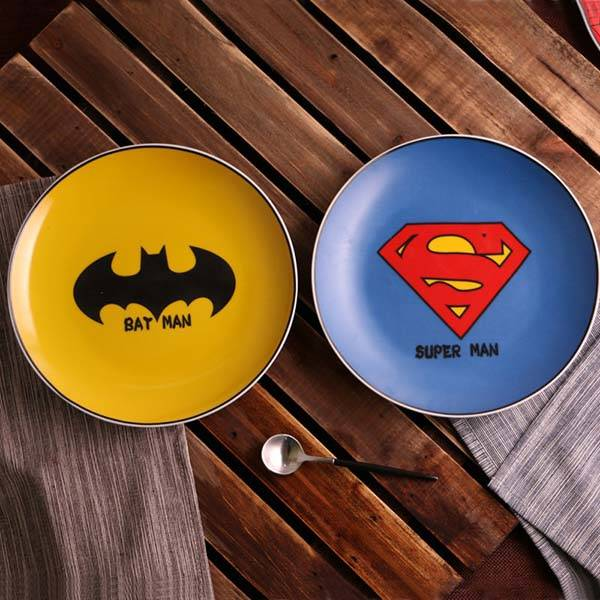 The Ceramic Superheroe Inspired Cartoon Dessert Plates