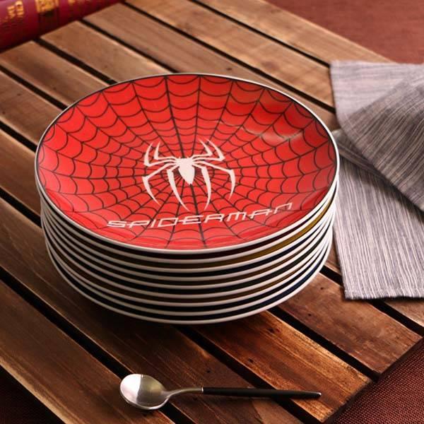 The Ceramic Superheroe Inspired Cartoon Dessert Plates