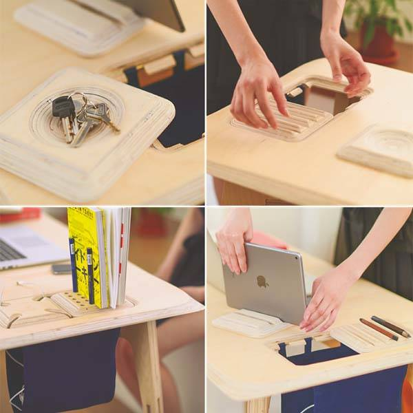 Butterply Plywood Desk with Functional Modules