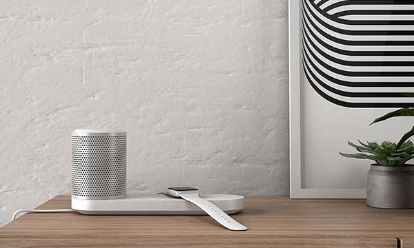 Duo Wireless Charging Station with Detachable Bluetooth Speaker