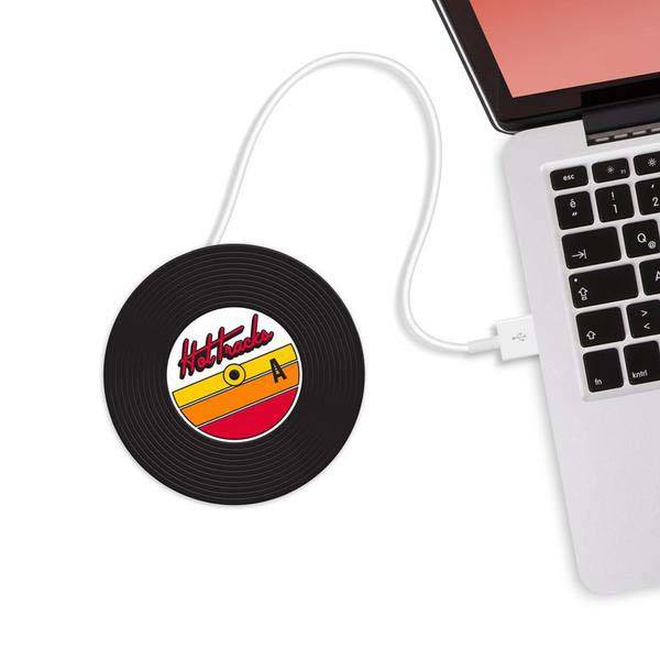Floppy Disk and Vinyl Record Inspired USB Mug Warmers