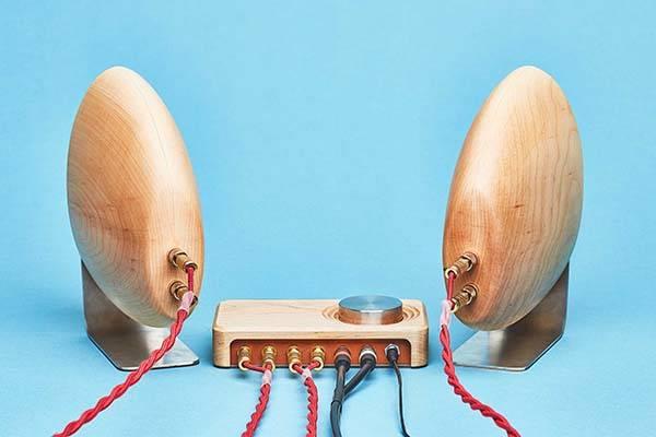 Grovemade Wooden Stereo Speaker System