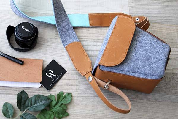Handmade Customizable Leather DSRL Camera Bag