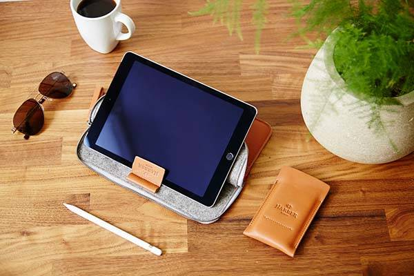 Handmade EVO iPad Pro Leather Case with Apple Pencil Holder