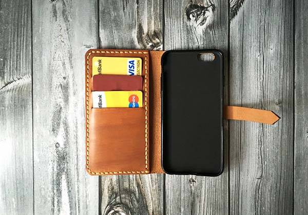 Handmade iPhone Leather Case is Customizable with Your Text